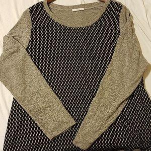 Le Lis Stitchfix Brand Mixed Media blouse